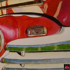 Bobbys Garage Painting by Carol Grudowski