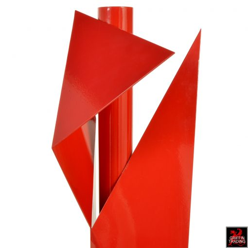 Steel geometric sculpture by sculptor Betty Gold.