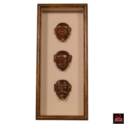 Antique Miniature Japanese Noh Mask Collection