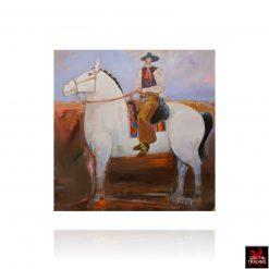 Big Horse Big Cowboy painting by Nick Puspurica
