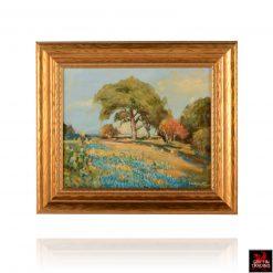 Bluebonnet Hillside Painting by Hardy Martin