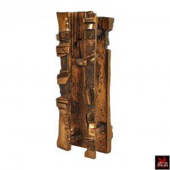 Mid century era Brutalist bronze sculpture