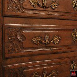 18th Century Louis XV Walnut Commode