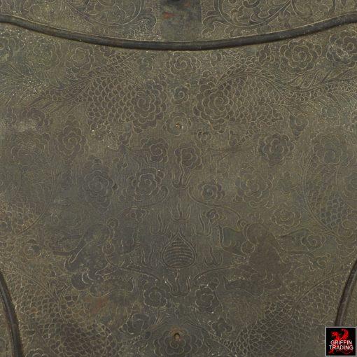Antique Chinese Bronze Fan Temple Standard