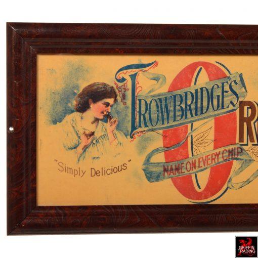 Antique Trowbridge's Chocolate Chip Sign