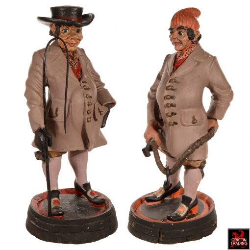 Coachman and Groom Antique Advertising Show Figures