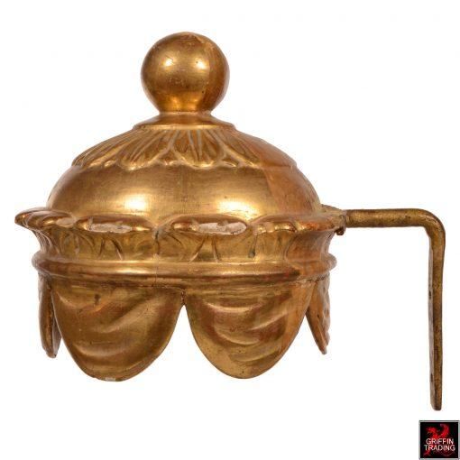 Gold Leaf Antique Corona Bed Crown