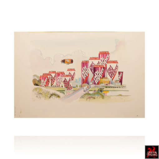 Dr Pepper City Illustration by Ben James