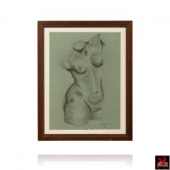 Original Nude Female Sketch by Dunlevy