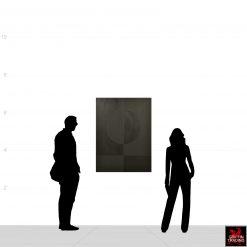 Stephen Hansrote Eclipse Double Black Painting