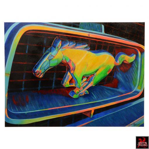 Ford Mustang painting by Carol Grudowski