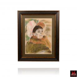 Lady With Bonnet Pastel by Lori Maclean
