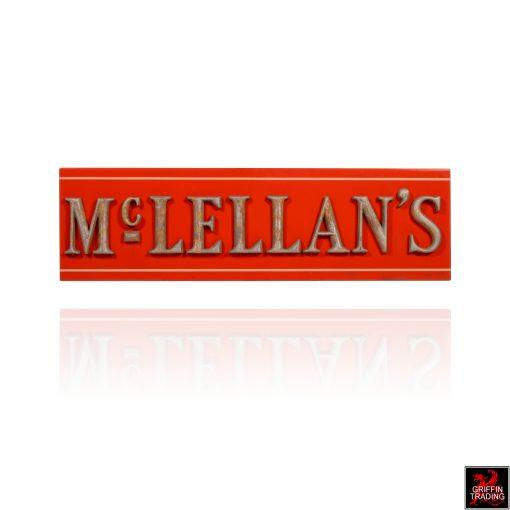 Antique McLellans Store Sign