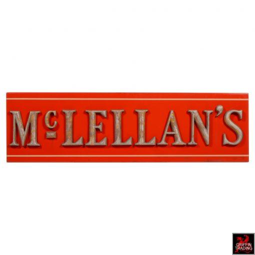 Antique McLellan's Store Sign