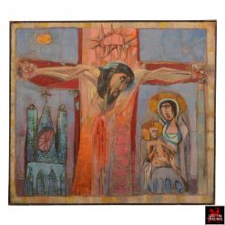 Crucifixion Painting by Nik Puspurica