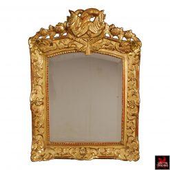 Antique French Regency Louis XIV Giltwood Mirror