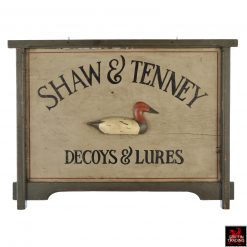 Shaw Tenney Decoy Trade Sign