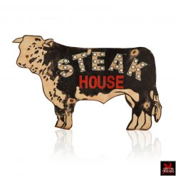 Lighted Steakhouse Cow Sign