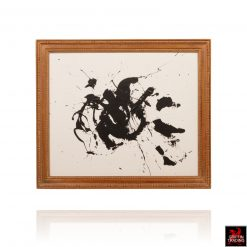 Black and White Abstract Painting 8545 by Stephen Hansrote