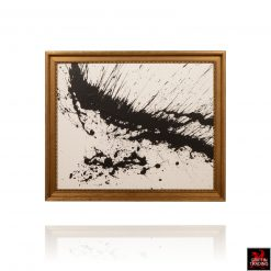 Black and White Abstract Painting 8546 by Stephen Hansrote