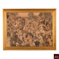 Victorian Engravings and Prints People Collage